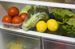 Vegetables in the refrigerator. Stock Photos