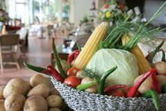 Vegetables at restaurant royalty free stock image