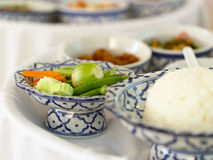 Vegetables and rice Stock Images