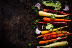 Vegetables for roasting Stock Photos