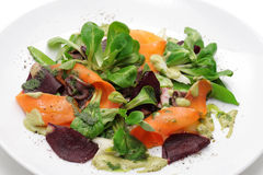 Vegetables and roe meals salad Royalty Free Stock Images