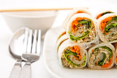 Vegetables roll in Vietnamese style Stock Photo