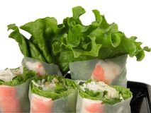 Vegetables rolls stock photography