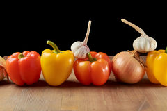 Vegetables in a row Royalty Free Stock Photo