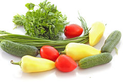 vegetables  for salad Stock Images