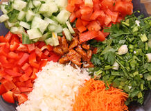 Vegetables salad. Salad from green vegetables - multi-coloured Stock Photo