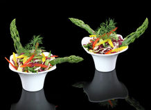 Vegetables salad with asparagus. In the bowl Royalty Free Stock Photo