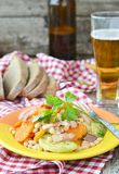 Vegetables salad with bacon Royalty Free Stock Photos