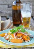 Vegetables salad with bacon Royalty Free Stock Images