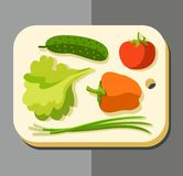 Vegetables for salad, coloured picture. Stock Photo