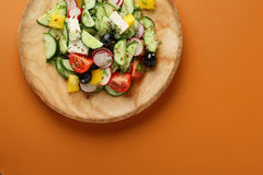 Vegetables salad with feta cheese Stock Image
