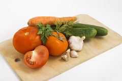 Vegetables for salad. Fresh juicy vegetables to make the salad Stock Images
