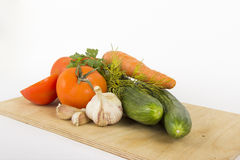 Vegetables for salad. Fresh juicy vegetables to make the salad Stock Photo