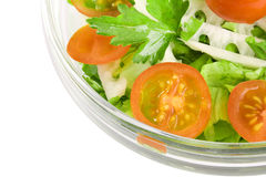 Vegetables salad in a glass salad bowl Royalty Free Stock Photography