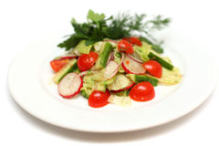 Vegetables salad - gourmet food stock photo