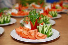 Vegetables salad on the plate royalty free stock image