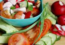 The vegetables for the salad. Stock Images