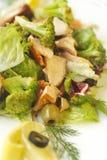 Vegetables salad with salmon and broccoli Stock Image