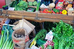 Vegetables for sale, Broadway. Royalty Free Stock Photography