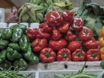 Vegetables on sale in a market royalty free stock images
