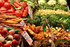Vegetables For Sale at Market Closeup stock image