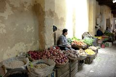 Vegetables for sale in Medina of Fez Royalty Free Stock Images