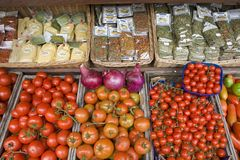 Vegetables for sale in Portoferraio, Province of Livorno, on the island of Elba in the Tuscan Archipelago of Italy, Europe Royalty Free Stock Photo