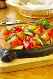 Vegetables with salmon Stock Image