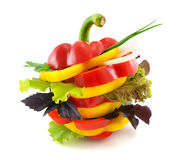 Vegetables sandwich. Royalty Free Stock Photo