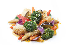 Vegetables with sauce Stock Photos