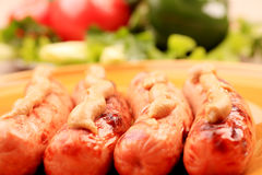 Vegetables and sausages Royalty Free Stock Photography
