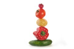 Vegetables sculpture royalty free stock image