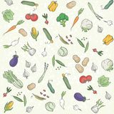 Vegetables seamless background Royalty Free Stock Photography
