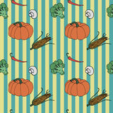 Vegetables seamless background. Vector pattern Royalty Free Stock Image