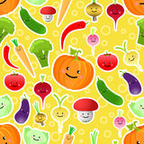 Vegetables seamless pattern. Vector illustration Royalty Free Stock Photo