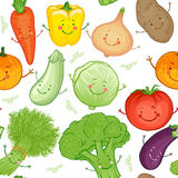 Vegetables  seamless pattern Stock Photos