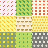 Vegetables Seamless Pattern Background Set Royalty Free Stock Photo