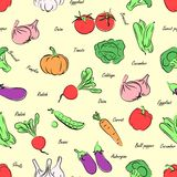 Vegetables seamless Stock Photography
