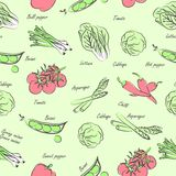 Vegetables seamless Royalty Free Stock Photos