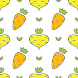 Vegetables seamless pattern Royalty Free Stock Images