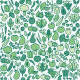 Vegetables seamless pattern Royalty Free Stock Photo