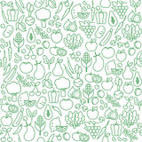 Vegetables seamless pattern Royalty Free Stock Image