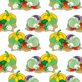 Vegetables Seamless pattern Stock Image