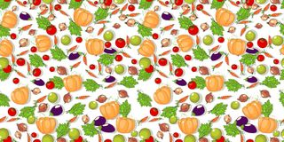 Vegetables seamless pattern. Royalty Free Stock Images