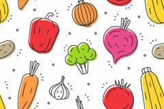Vegetables seamless pattern Stock Photos