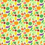 Vegetables seamless pattern, vector background Stock Photography