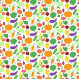 Vegetables seamless pattern, vector background Stock Photo