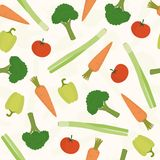 Vegetables seamless pattern. Vector EPS 10 iilustration Stock Images