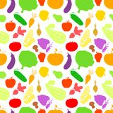 Vegetables seamless pattern, vector light Royalty Free Stock Image
