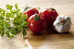 Vegetables for seasoning Mediterranean cuisine Stock Image